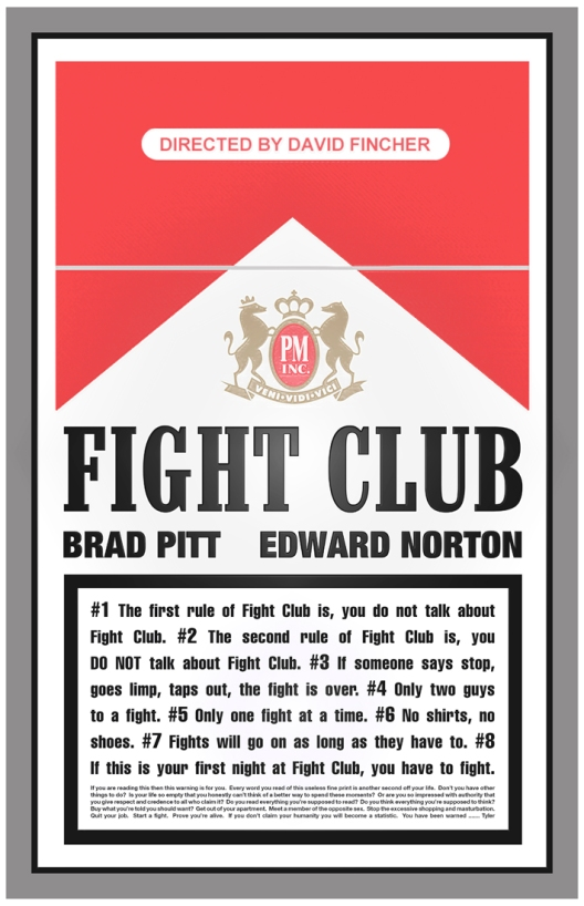 Fight Club Homage Poster by Ross Hoddinott